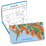 Calendars - Personalized 2 Year Planner Floral Hummingbird