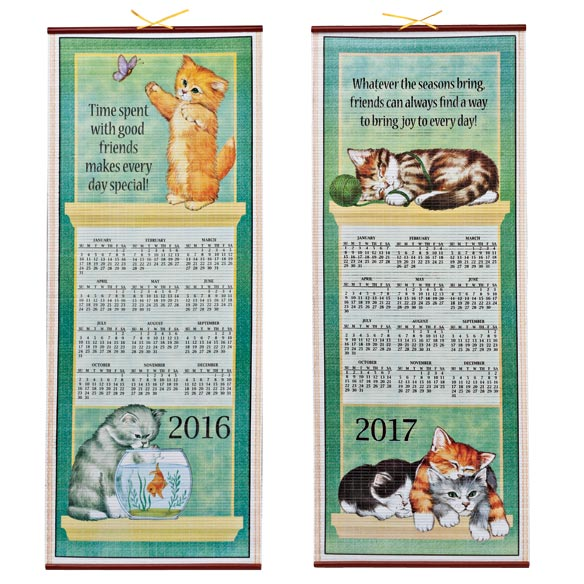 Playful Kittens Scroll Calendar