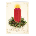 New - Satin Candle Christmas Card Set of 20