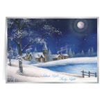 Secular - Silent Night Christmas Card Set of 20