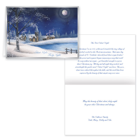 Silent Night Christmas Card Set of 20 - View 1