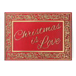 Secular - Christmas is Love Christmas Card Set of 20
