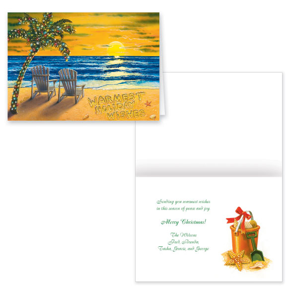 Coastal Merry Christmas Card Set of 20