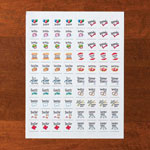 Memos, Notepads & Cards - Calendar Stickers, Set of 80