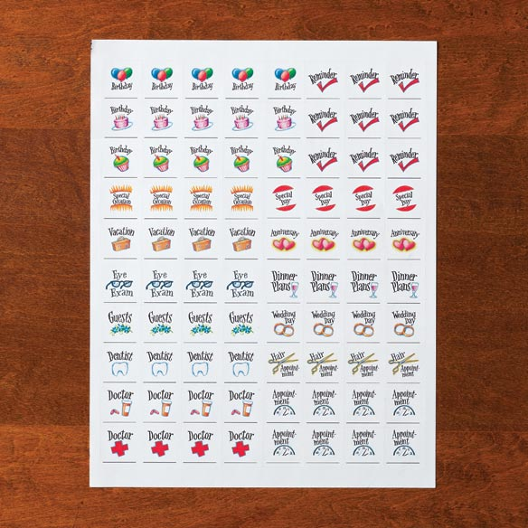 Calendar Stickers, Set of 80