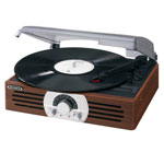 Home Entertainment - Jensen® 3 Speed 222 Wooden Stereo Turntable with Radio
