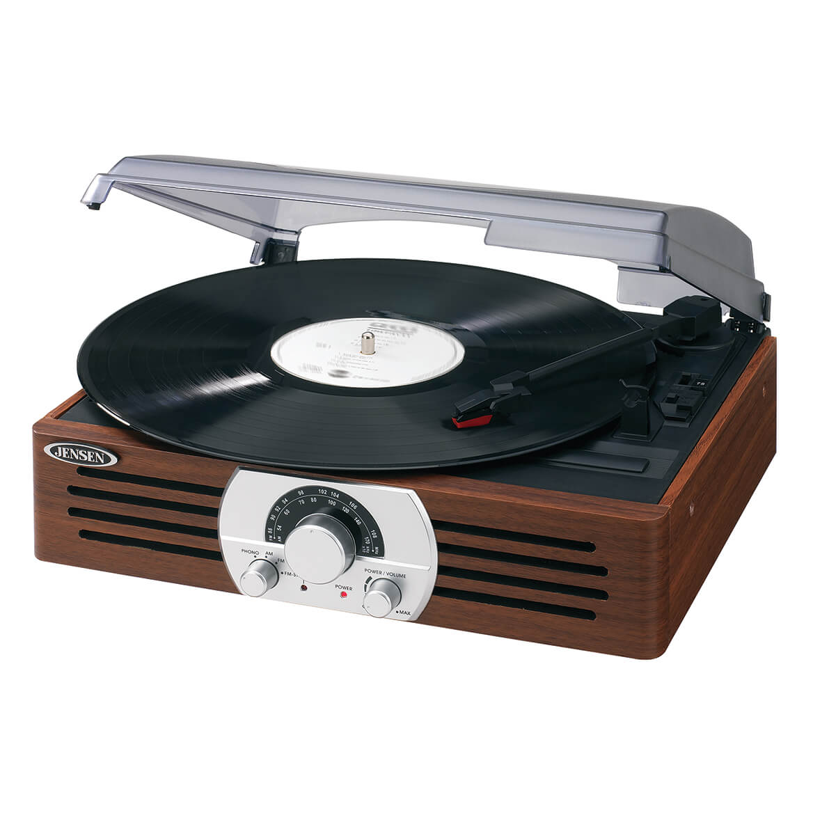 Jensen® 3 Speed Wooden Stereo Turntable with Radio-349129