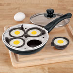 New - Frying Pan With Egg Poacher Insert