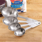Gadgets & Utensils - Stainless Steel Cup Size Measuring Spoons, Set of 4