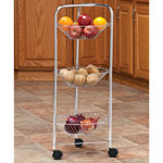 Organization & Decor - 3-Tier Rolling Cart with Baskets