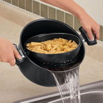 Bakeware & Cookware - 3-Piece Non-Stick Easy-Strain Pot