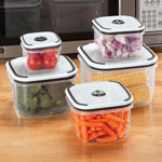 Food Storage - Vented Storage Containers - Set of 5