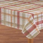 Table Top & Entertaining - Lexington Plaid Vinyl Table Cover