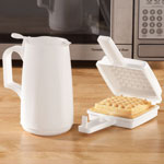 Small Appliances & Accessories - Microwave Waffle Maker and Syrup Dispenser