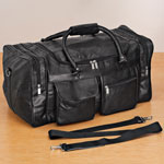 Health, Beauty & Apparel - Patch Leather Duffle Bag