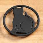 Closeout Deals - Cast Iron Black Cat Trivet