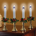 Decorations & Storage - Holly LED Candles
