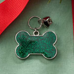 Pets - Dog Bone Glitter Pet Charm With Bell