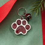 Pets - Paw Print Glitter Pet Charm with Bell