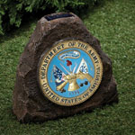 New - Solar Lighted Military Rock