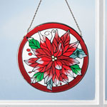 Decorations & Storage - Poinsettia Suncatcher