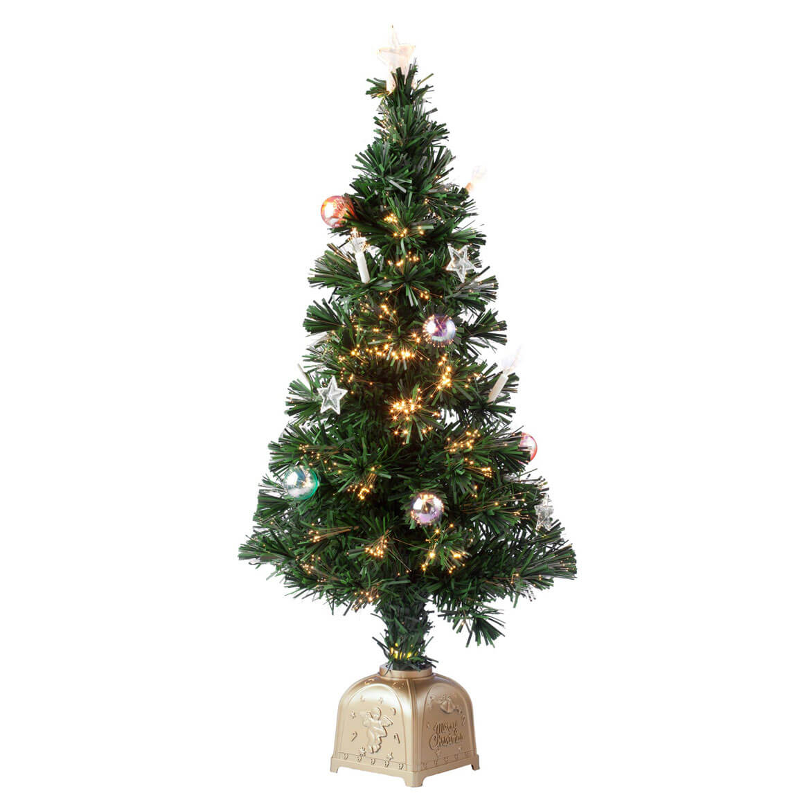 3' Musical Spinning Fiber Optic Tree by Holiday Peak™-349693
