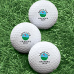 Golf Balls - Personalized Above Par Golf Balls - Set of 6