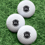 Golf Balls - Personalized Over The Hill Golf Balls - Set of 6
