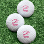 Golf Balls - Personalized Born To Play Golf Balls - Set of 6
