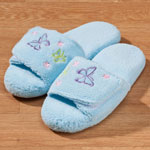 Health, Beauty & Apparel - Memory Foam Light Blue Butterfly Slippers