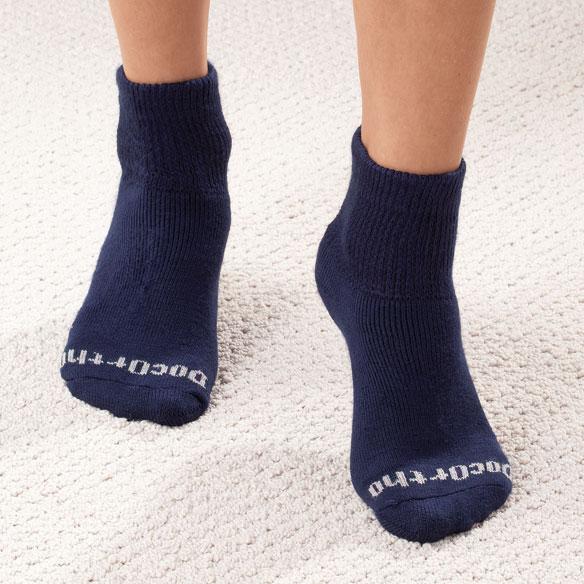 Unique's Shop Doc Ortho™ 1/4 Cut Socks-SM-White