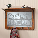 Closeout Deals - Bear Northwoods Mirror Shelf With Hooks