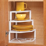 Kitchen - Multi-Tier Corner Cabinet Organizer