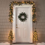 Decorations & Storage - 5-Piece Christmas Entryway Set                           XL