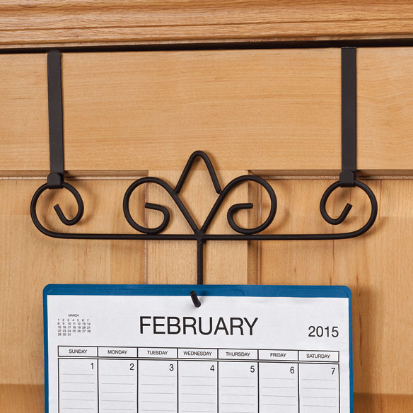 Calendar Wooden Holder : Over the door calendar holder walter drake