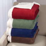 "New - Ultra Plush Microfiber Sherpa Throw - 50""x60"""