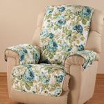 Decorations & Accents - English Floral Microfiber Recliner Cover