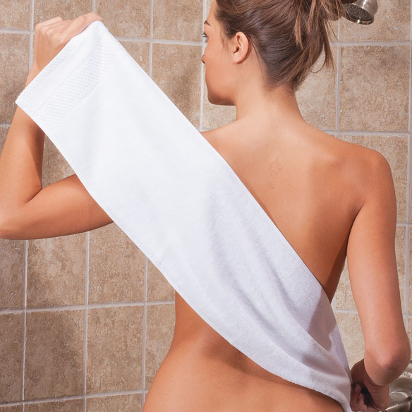 Unique's Shop Easy Reach Back and Body Washcloth-White