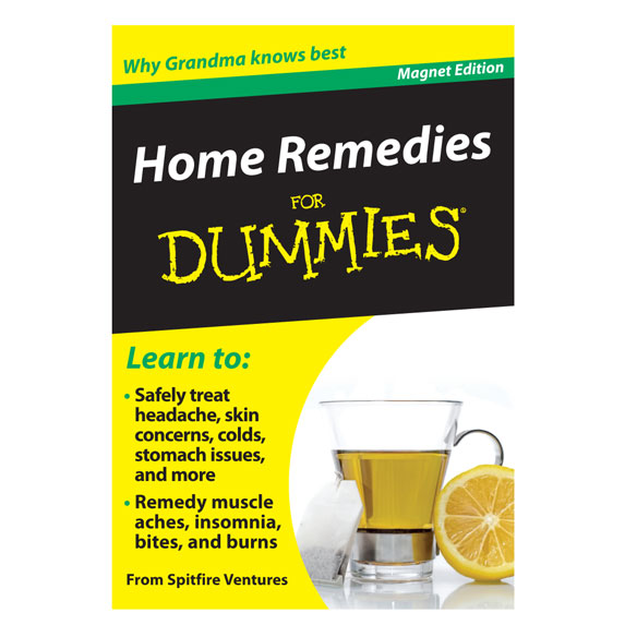 Home Remedies Refrigerator Magnet Book For Dummies®