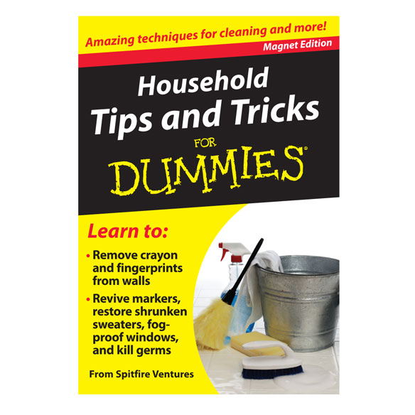 Household Tips and Tricks Magnet Book For Dummies®