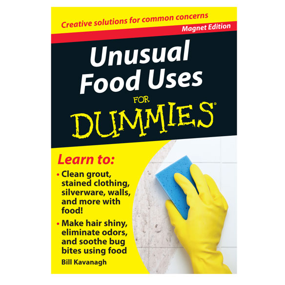Unusual Food Uses Refrigerator Magnet Book For Dummies®