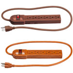 New - Wood Grain Power Strip