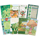Memos, Notepads & Cards - St. Patrick's Day Card Assortment, Set of 24