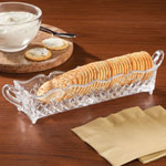 Table Top & Entertaining - Crystal Glass Cracker Tray