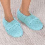 Footwear & Hosiery - Chenille Stretch Slippers