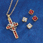 Jewelry & Accessories - Cross Pendant & Earring Set