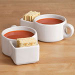 New - 15 oz. Soup and Cracker Mug, Set of 2