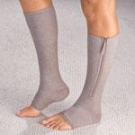 New - Magnetic Zipper Compression Socks