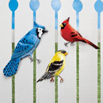 Decorative - Metal Songbirds Wall Plaques, Set of 3