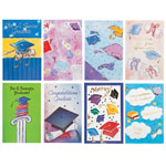 Memos, Notepads & Cards - Graduation Card Assortment, Set of 24